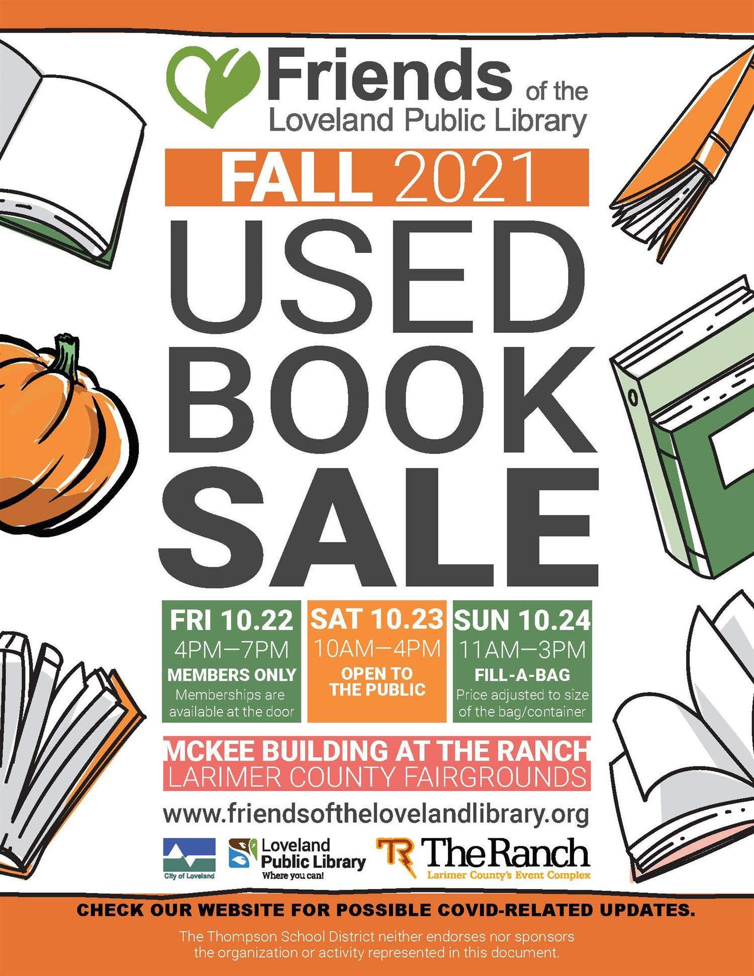 Flyer with info about Library Book sale