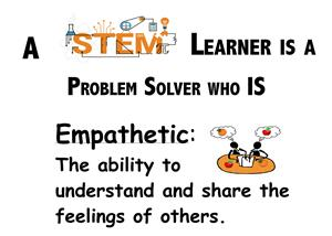 "A STEM Learner is ""Collaborative""<P>Working together to effectively accomplish a common goal."