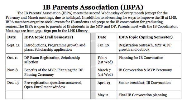 IB Parents' Association