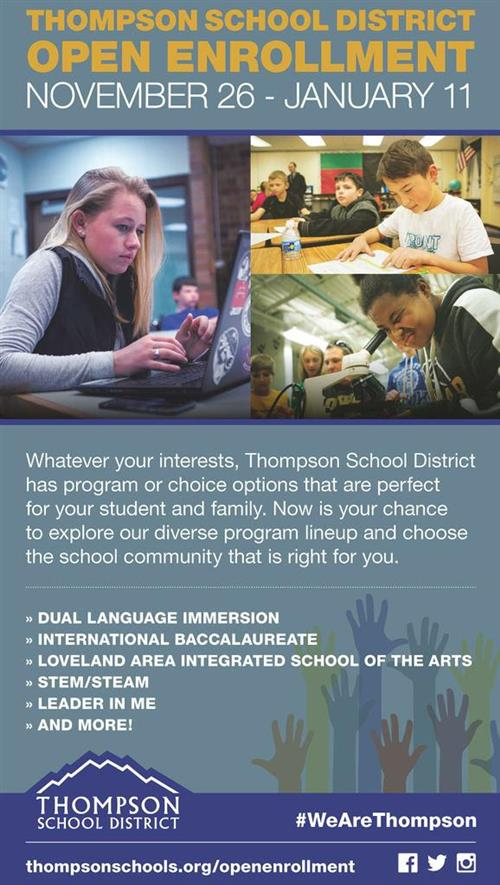 TSD Open Enrollment Flyer 2019-2020