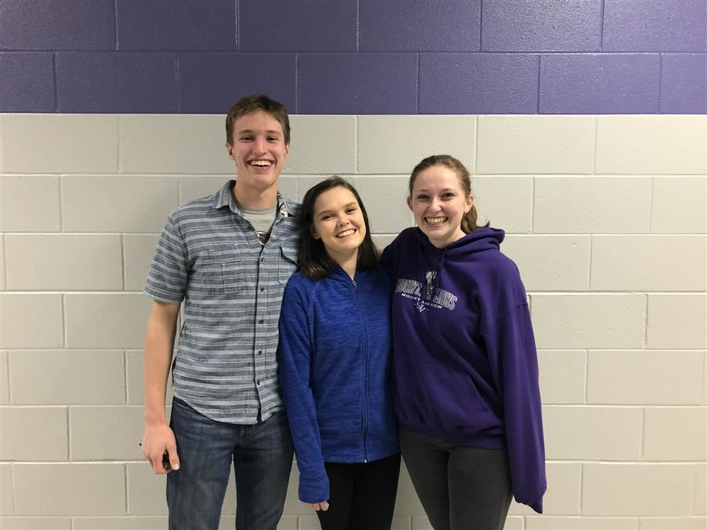 Congratulations to Zoe Maiberger, Landen Huey and Trinity Allen who were accepted into All State Choir!