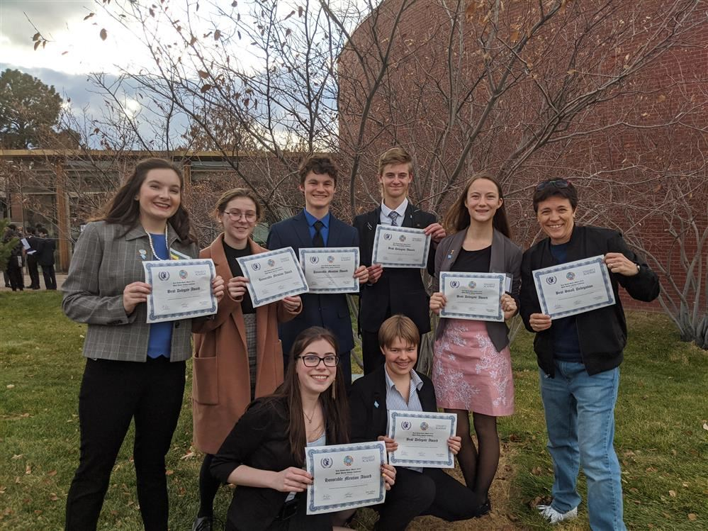 MVHS wins Model UN Best Overall Small Delegation at Kent Denver