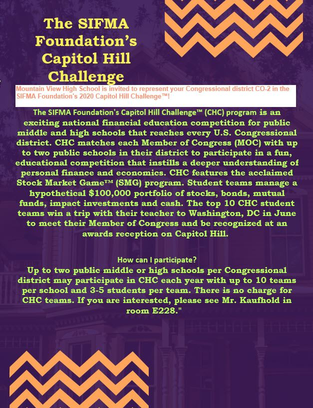 The SIFMA Foundation's Capitol Hill Challege