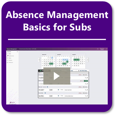 Sub Training Video - Absence Mangement
