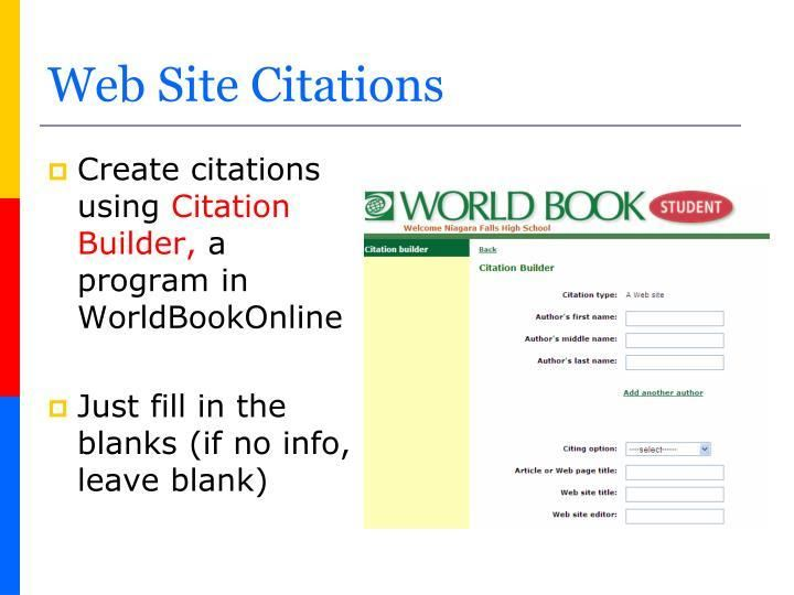 world book citation maker
