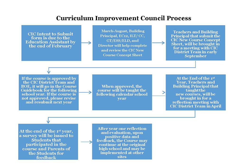 Curriculum Improvement Process description