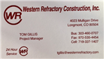 Western Refractory Construction, Inc.